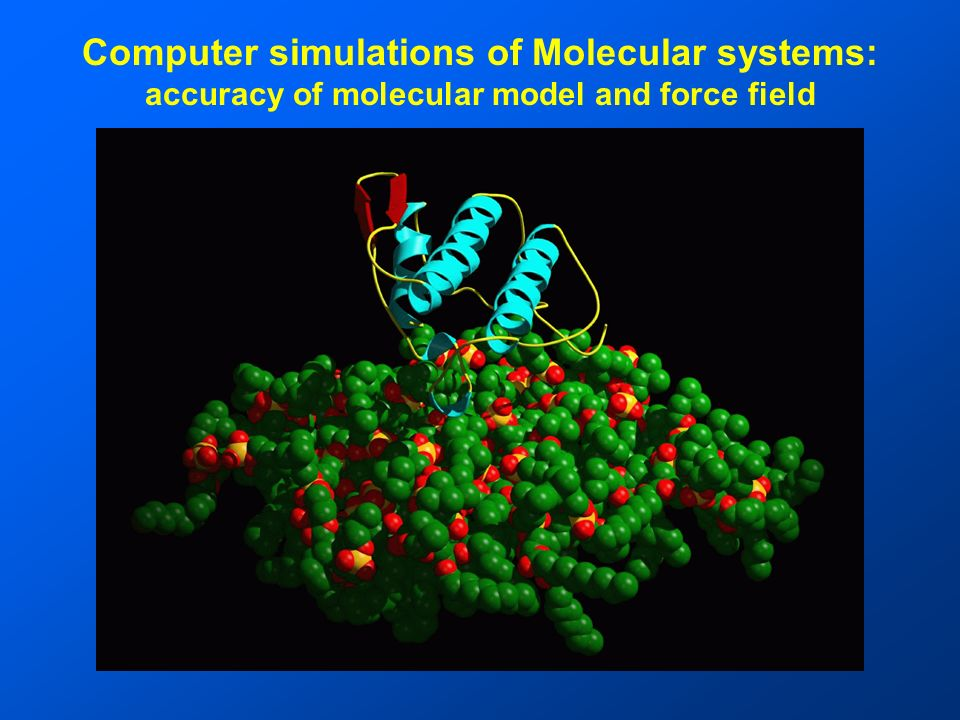 Computer simulations of Molecular systems: accuracy of molecular model and force field