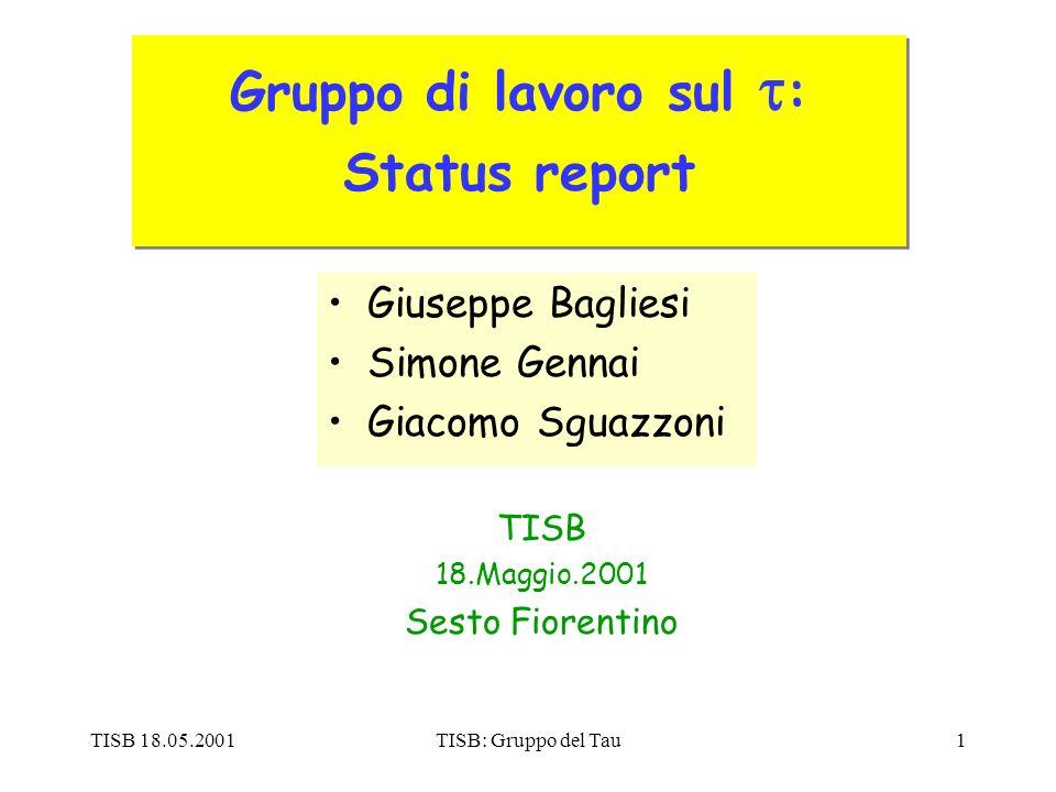 TISB 18.05.2001TISB: Gruppo del Tau12 L3tk: Number of Reco Tk in 2 nd jet mH=200 GeV Bkg50-80 Bkg80-120 Bkg120-170 # Full Reco Tk (P T >1 GeV) 0 < Ntk < 4 Jet cone = 0.4