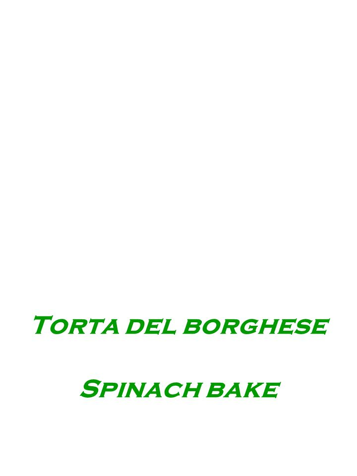 Torta del borghese Spinach bake