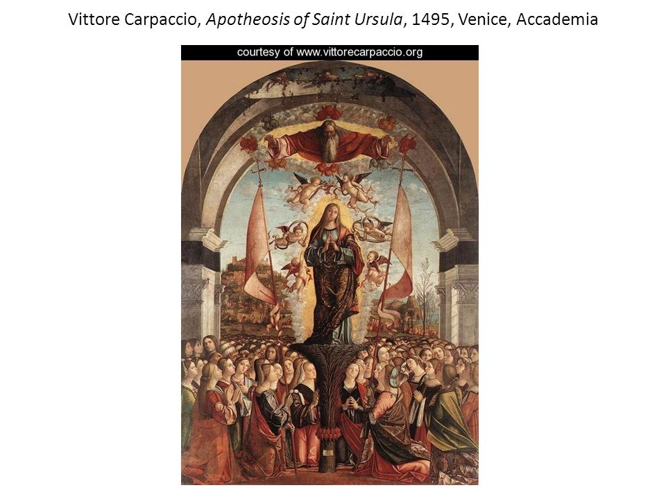 Vittore Carpaccio, Apotheosis of Saint Ursula, 1495, Venice, Accademia
