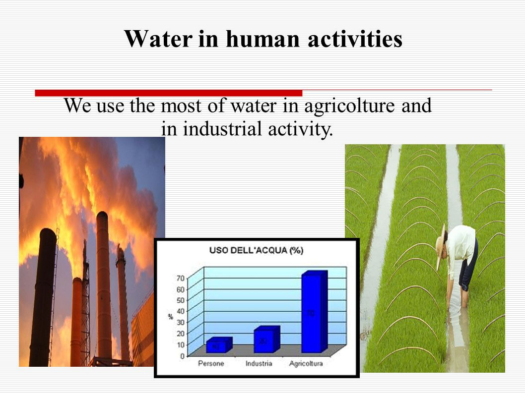 Water is fundamental for life and health We use lots of water every day.We use lots of water every day. It is very precious.It is very precious. We dr