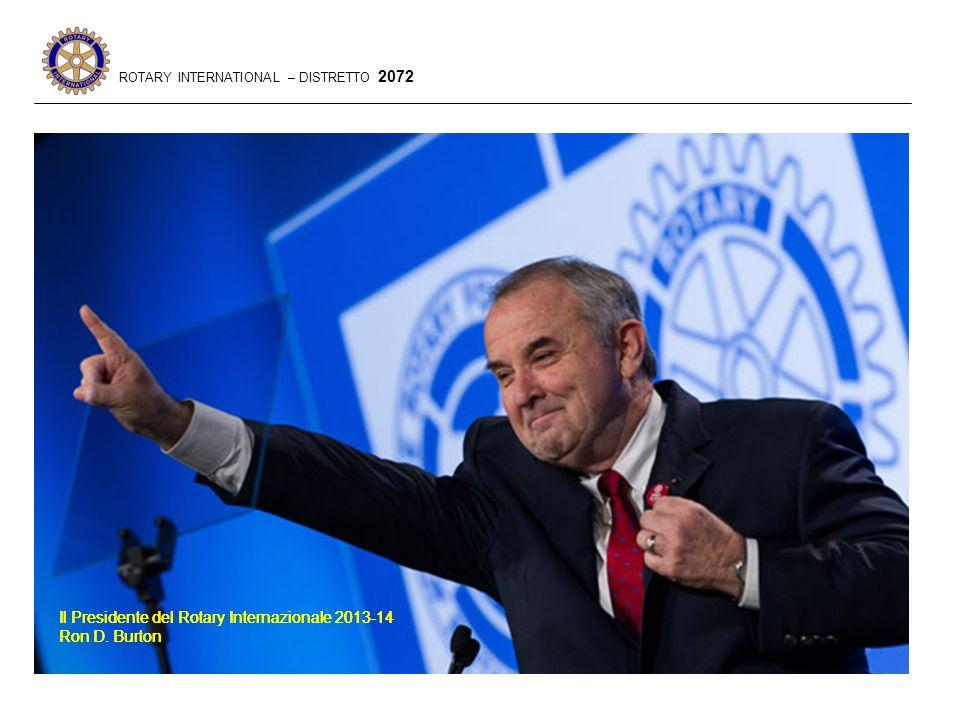 Il Presidente del Rotary Internazionale 2013-14 Ron D.