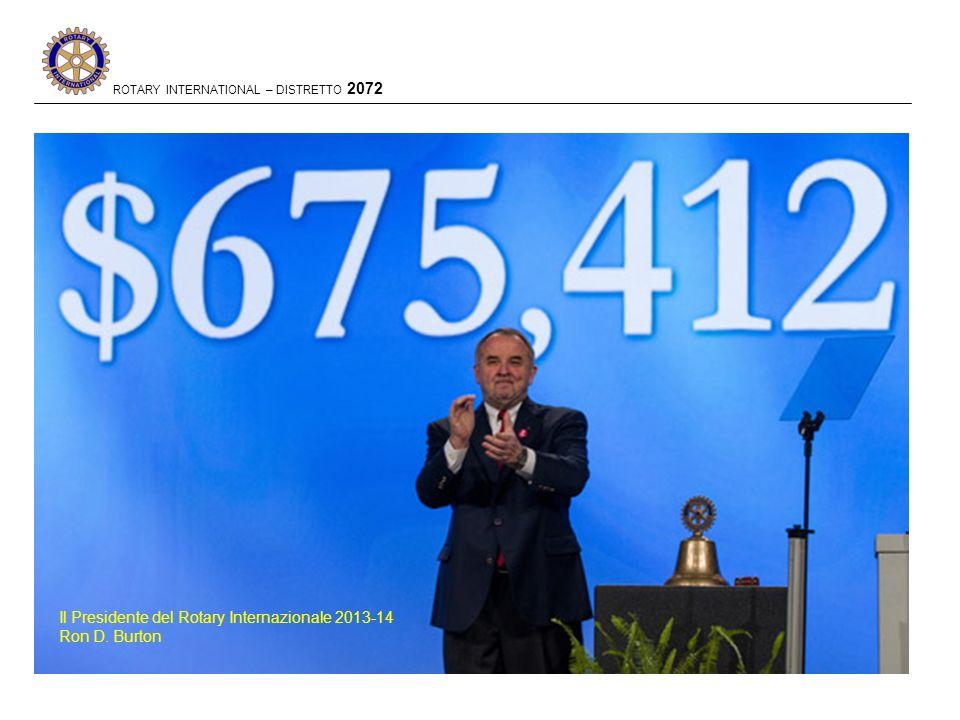 Il Presidente del Rotary Internazionale 2013-14 Ron D. Burton