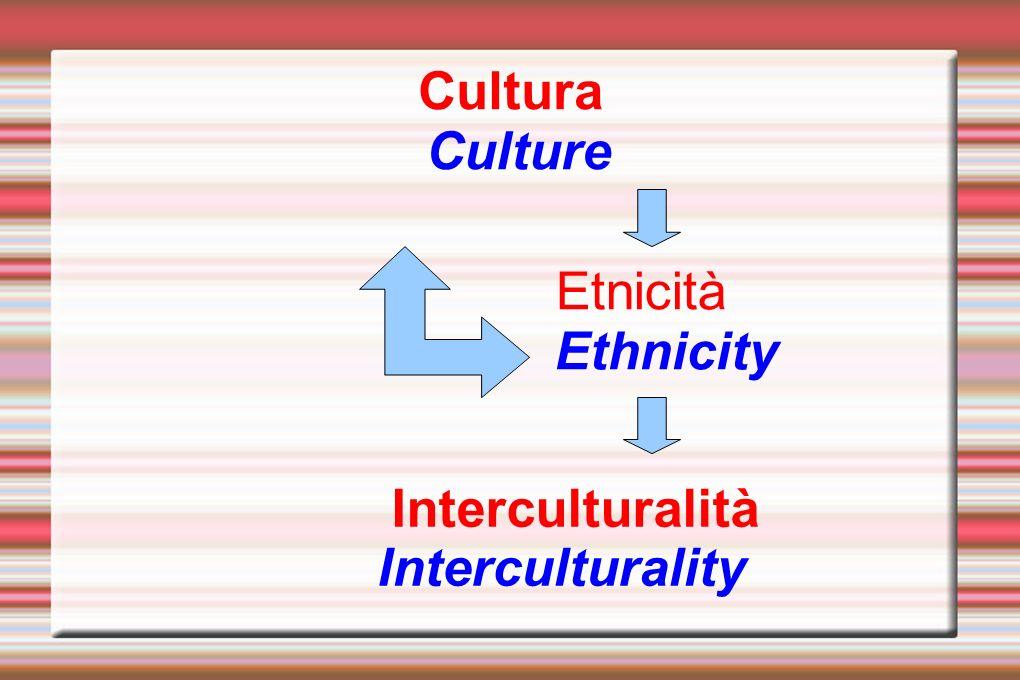 Cultura Culture Etnicità Ethnicity Interculturalità Interculturality