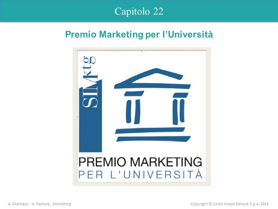 Capitolo 22 A. Mattiacci - A. Pastore, Marketing Copyright © Ulrico Hoepli Editore S.p.A. 2014 Capitolo 5 Analisi dellofferta Premio Marketing per lUn