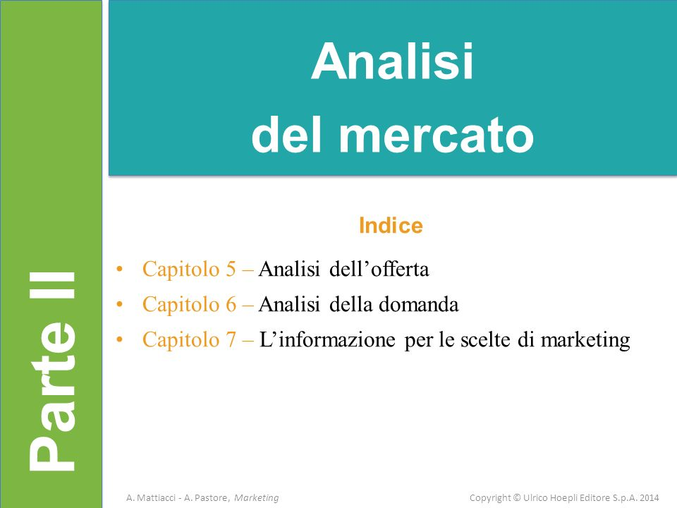 Capitolo 5 A.Mattiacci - A. Pastore, Marketing Copyright © Ulrico Hoepli Editore S.p.A.