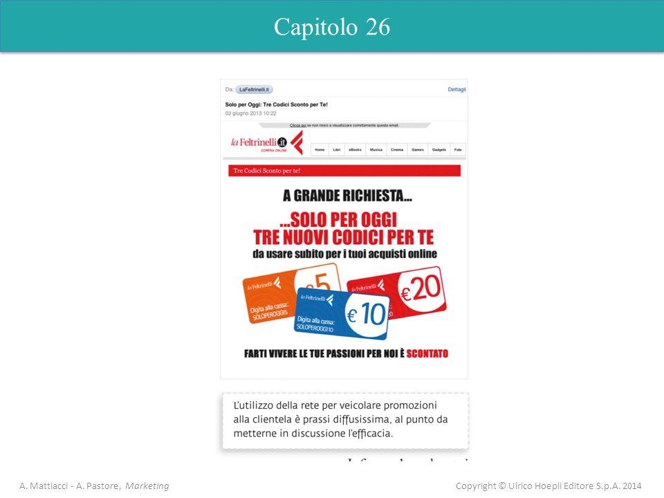 Capitolo 26 A.Mattiacci - A. Pastore, Marketing Copyright © Ulrico Hoepli Editore S.p.A.