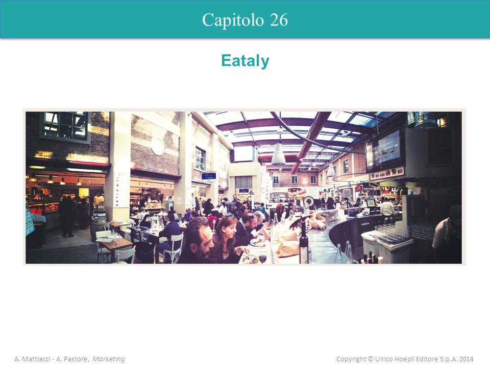 Capitolo 26 A. Mattiacci - A. Pastore, Marketing Copyright © Ulrico Hoepli Editore S.p.A. 2014 Capitolo 5 Analisi dellofferta Eataly