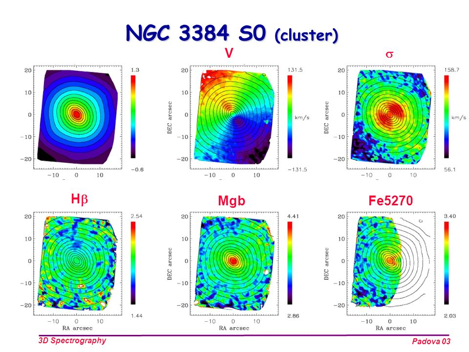 Padova 03 3D Spectrography H V MgbFe5270 NGC 3384 S0 (cluster)