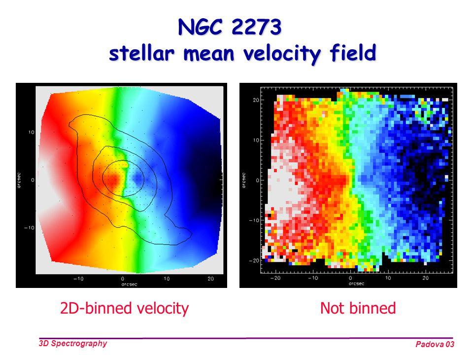Padova 03 3D Spectrography NGC 2273 stellar mean velocity field 2D-binned velocityNot binned