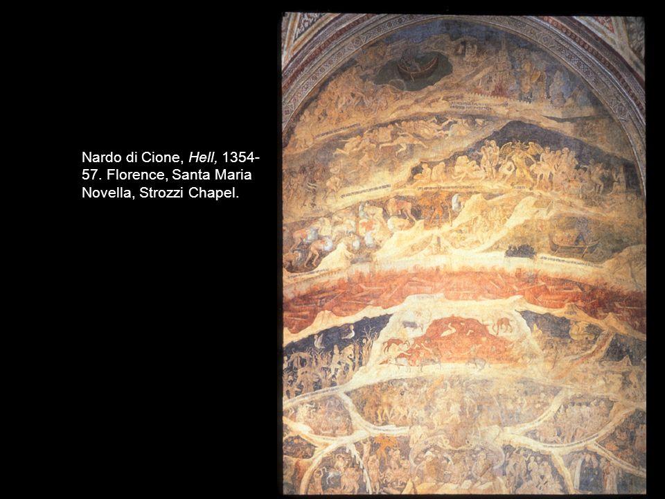 Nardo di Cione, Hell, 1354- 57. Florence, Santa Maria Novella, Strozzi Chapel.