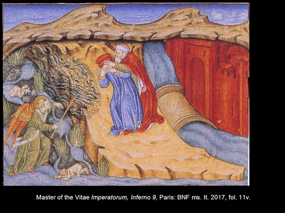 Master of the Vitae Imperatorum, Inferno 9, Paris: BNF ms. It. 2017, fol. 11v.