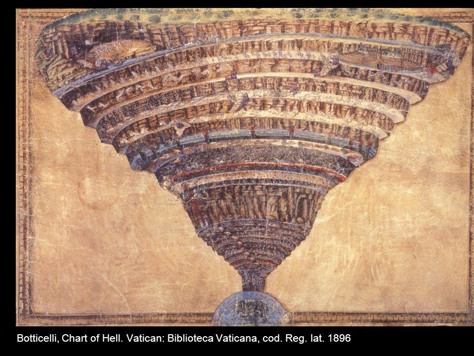 Botticelli, Chart of Hell. Vatican: Biblioteca Vaticana, cod. Reg. lat. 1896