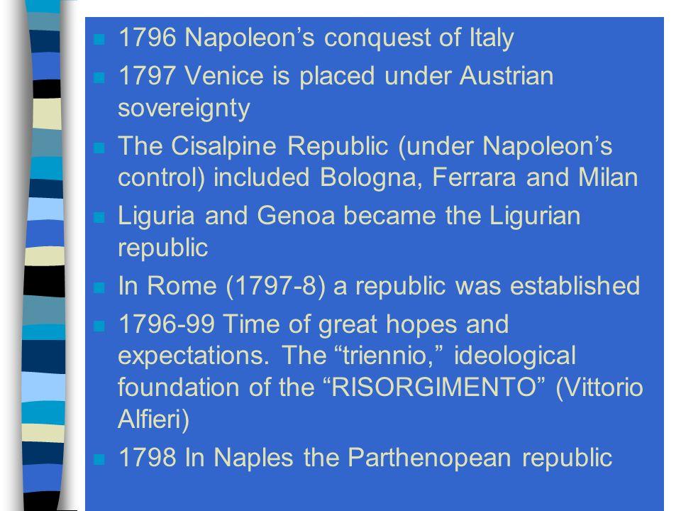 The Risorgimento 1790 - 1849