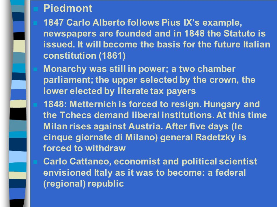 1834 Another attempt fails. Exile in Switzerland until 1837 During the exile Mazzini establishes La giovane Europa From 1837 Mazzini settles in Englan