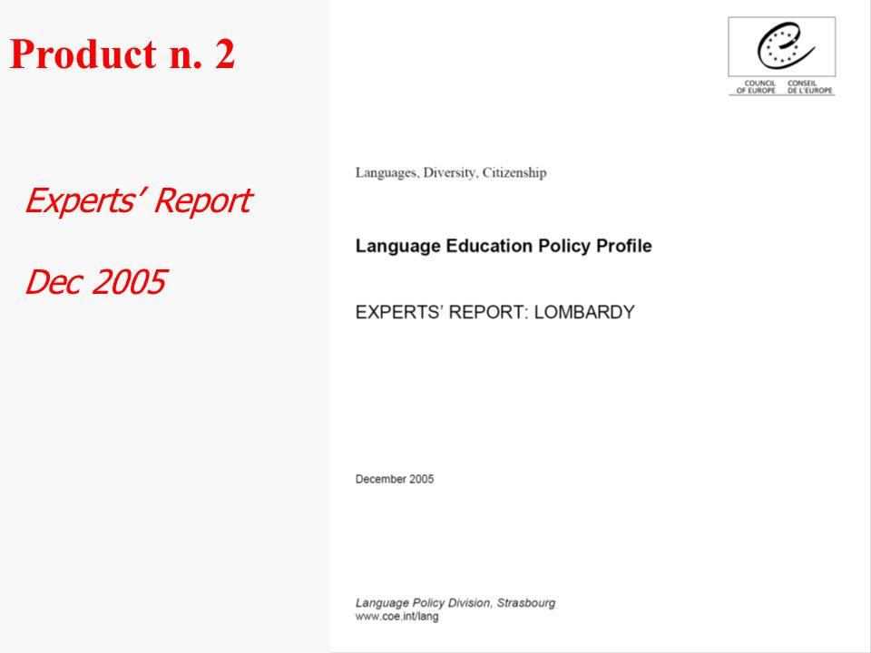 Experts Report Dec 2005 Product n. 2
