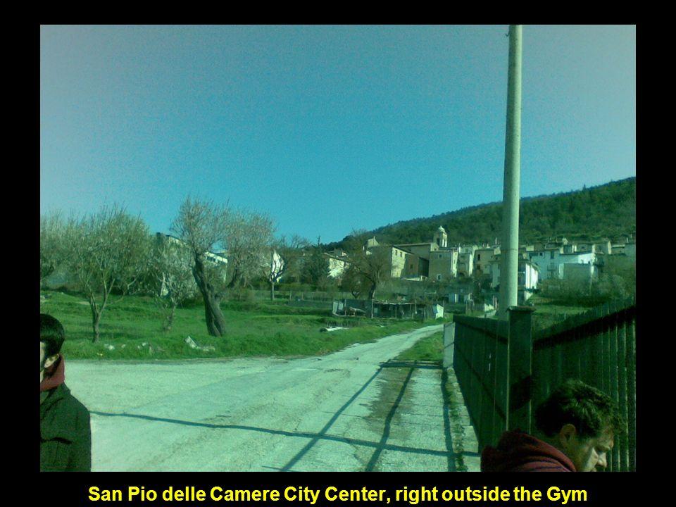 San Pio delle Camere City Center, right outside the Gym