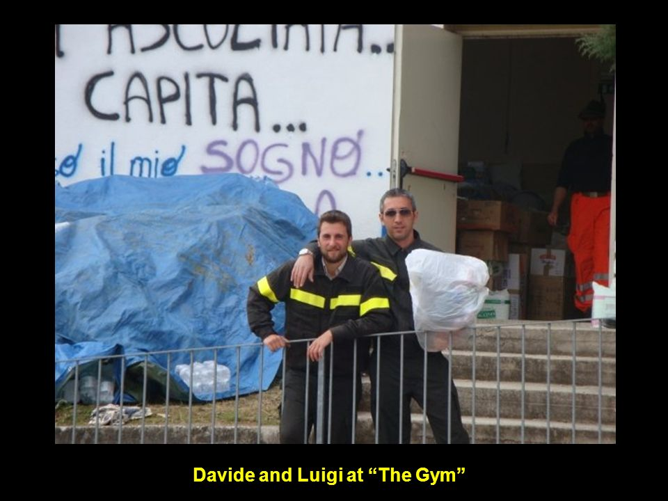 Davide and Luigi at The Gym