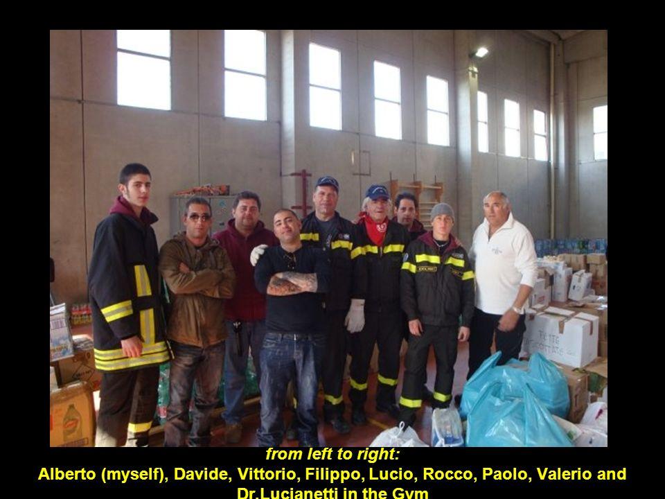 from left to right: Alberto (myself), Davide, Vittorio, Filippo, Lucio, Rocco, Paolo, Valerio and Dr.Lucianetti in the Gym