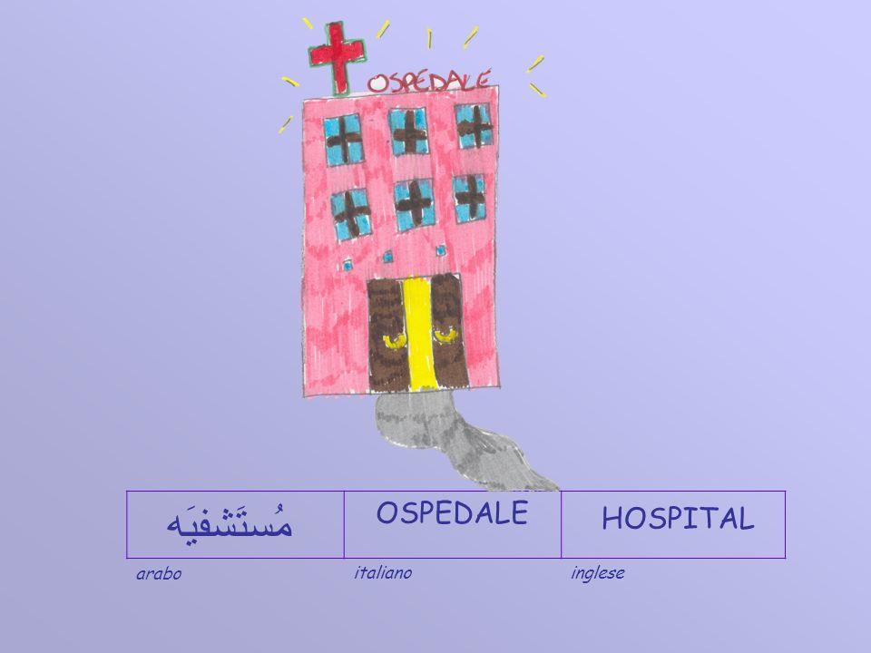 ITALIANO OSPEDALE INGLESE HOSPITAL ARABO مُستَشفيَه Scuola in ospedale dellInfanzia e Primaria - Policlinico Umberto I di Roma - IC Via Tiburtina antica, 25