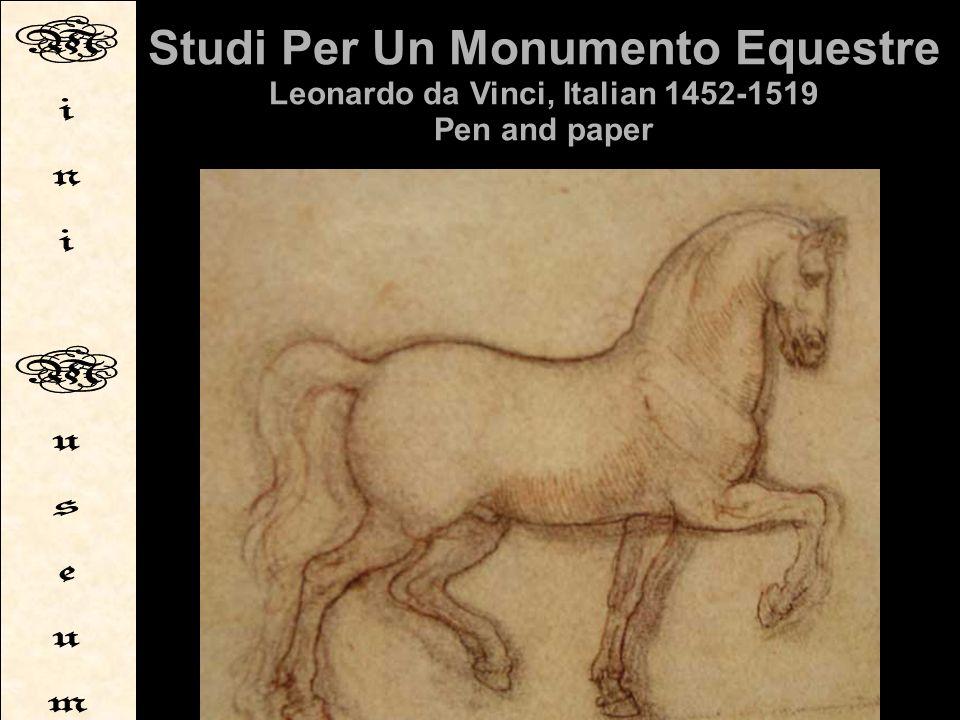 Studi Per Un Monumento Equestre Leonardo da Vinci, Italian 1452-1519 Pen and paper