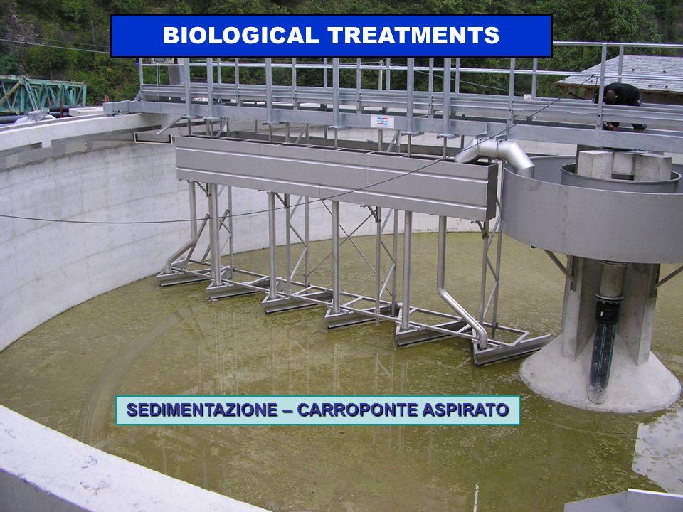 SEDIMENTAZIONE – CARROPONTE ASPIRATO BIOLOGICAL TREATMENTS