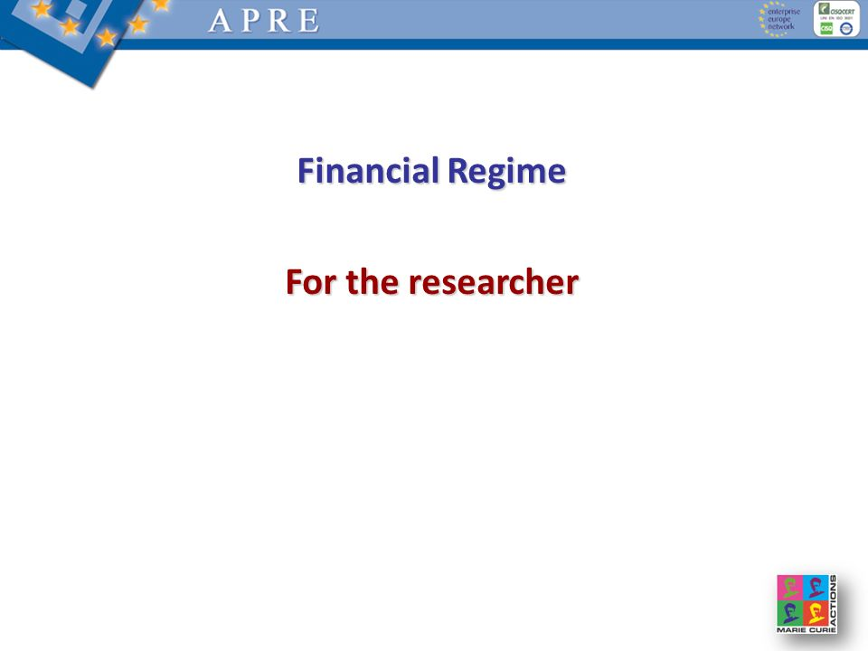 Financial Regime For the researcher