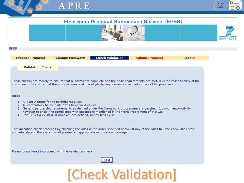 [Check Validation]