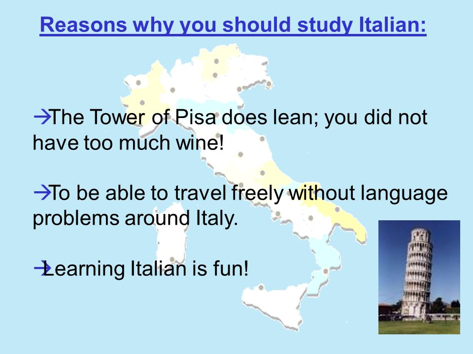 The Tower of Pisa does lean; you did not have too much wine.