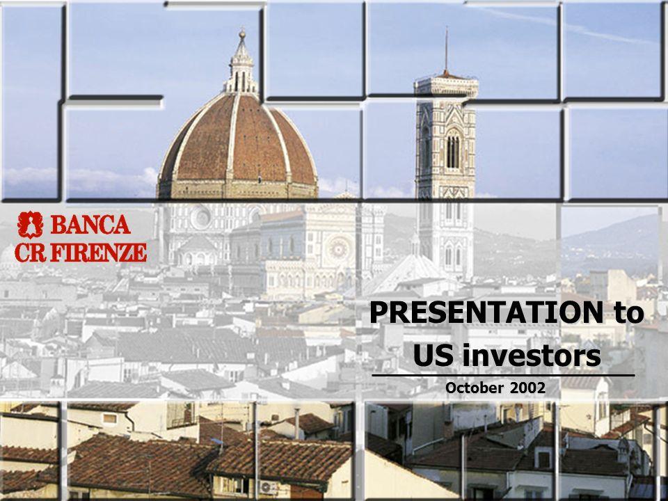 PRESENTATION to US investors October 2002