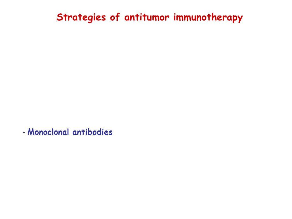 Strategies of antitumor immunotherapy - Monoclonal antibodies