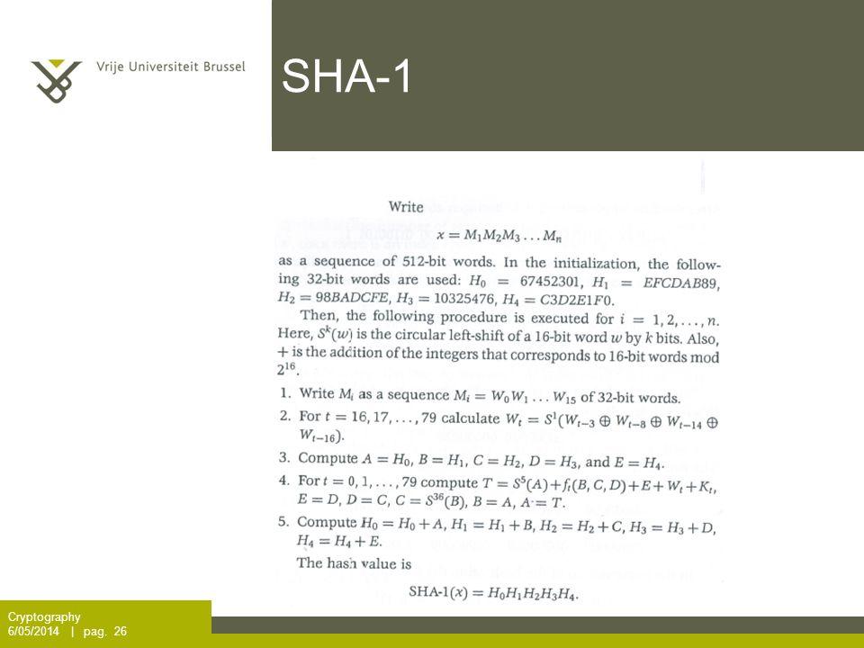 SHA-1 Cryptography 6/05/2014 | pag. 26