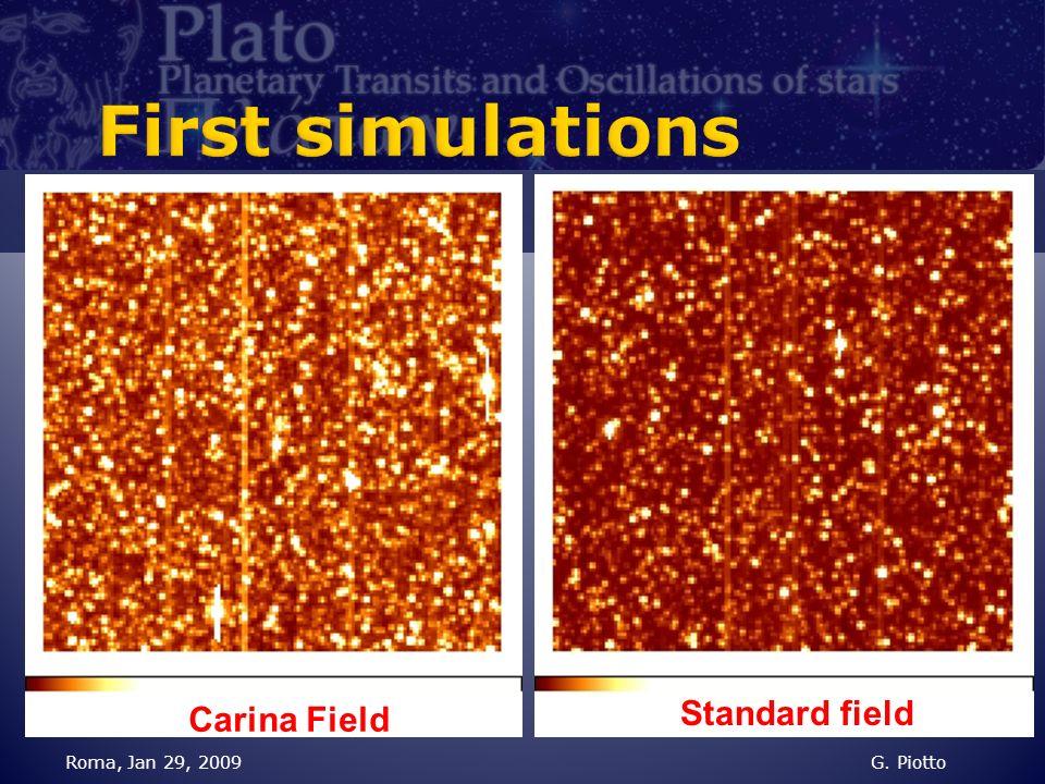 Roma, Jan 29, 2009G. Piotto Carina Field Standard field