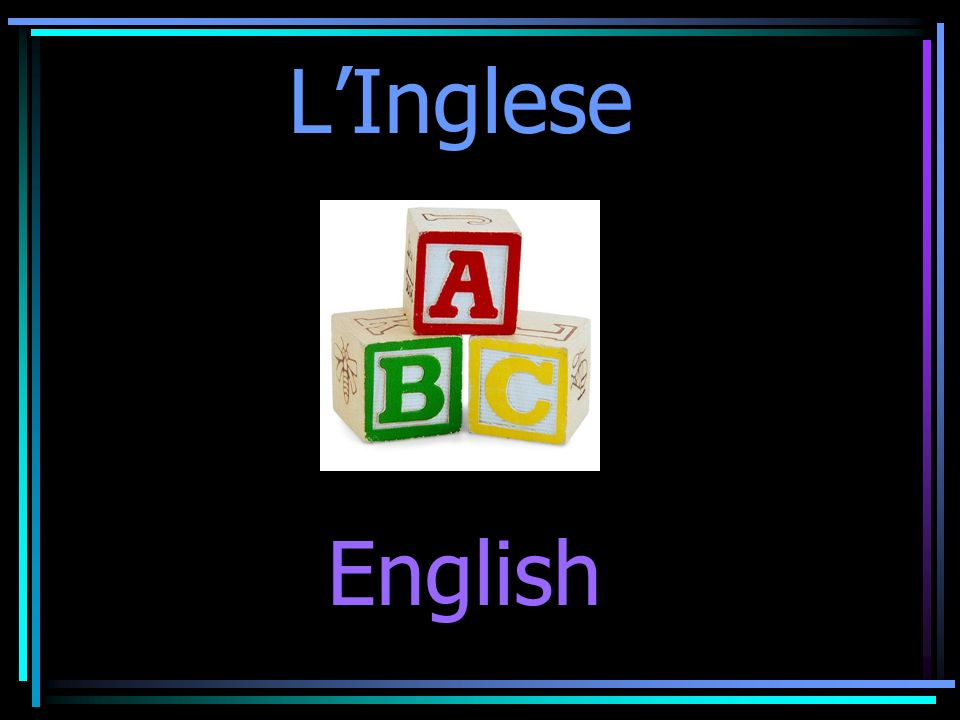 LInglese English