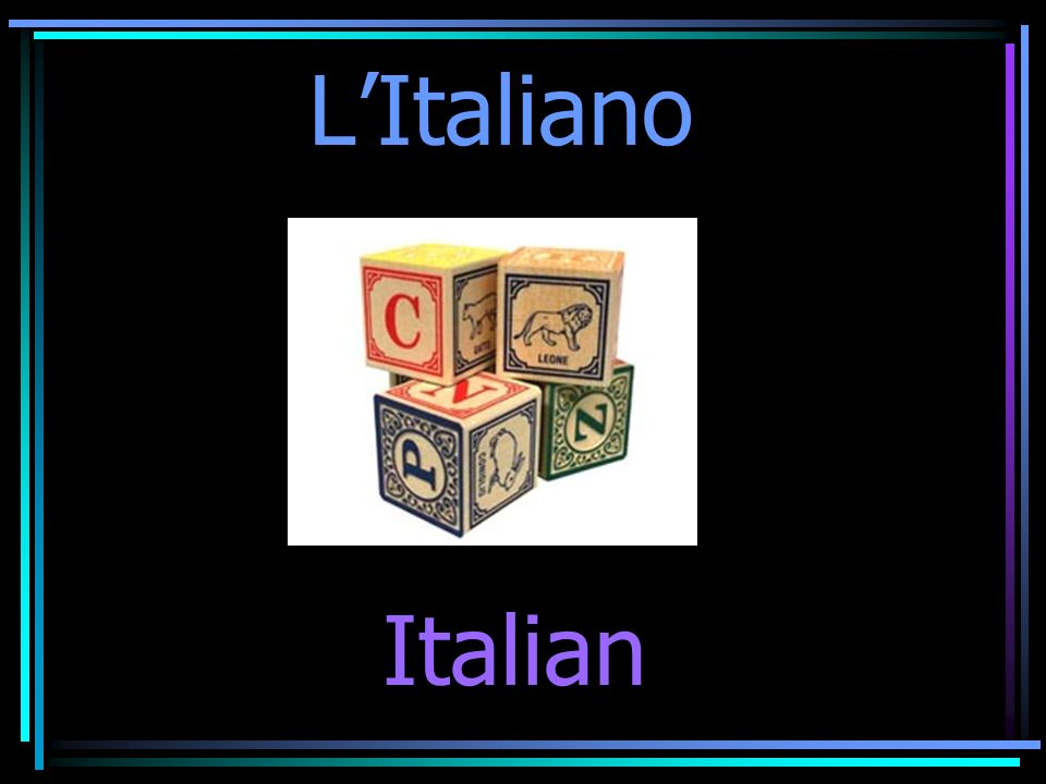 LItaliano Italian