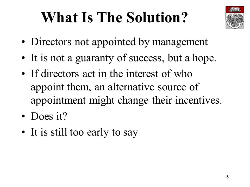 8 What Is The Solution.