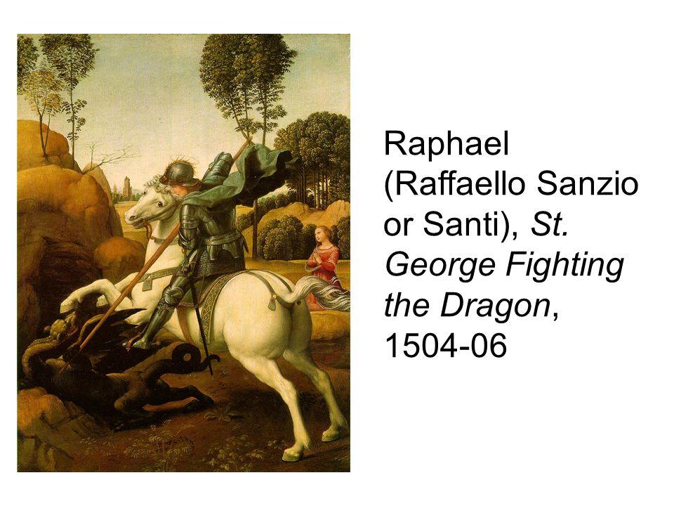 Raphael (Raffaello Sanzio or Santi), St. George Fighting the Dragon, 1504-06