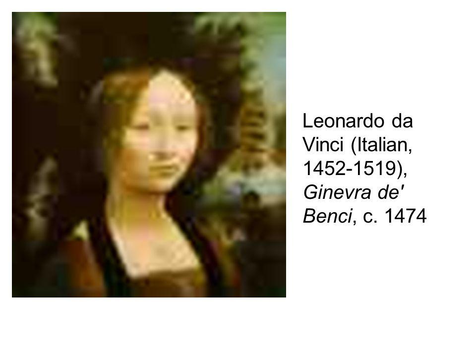 Leonardo da Vinci (Italian, 1452-1519), Ginevra de Benci, c. 1474