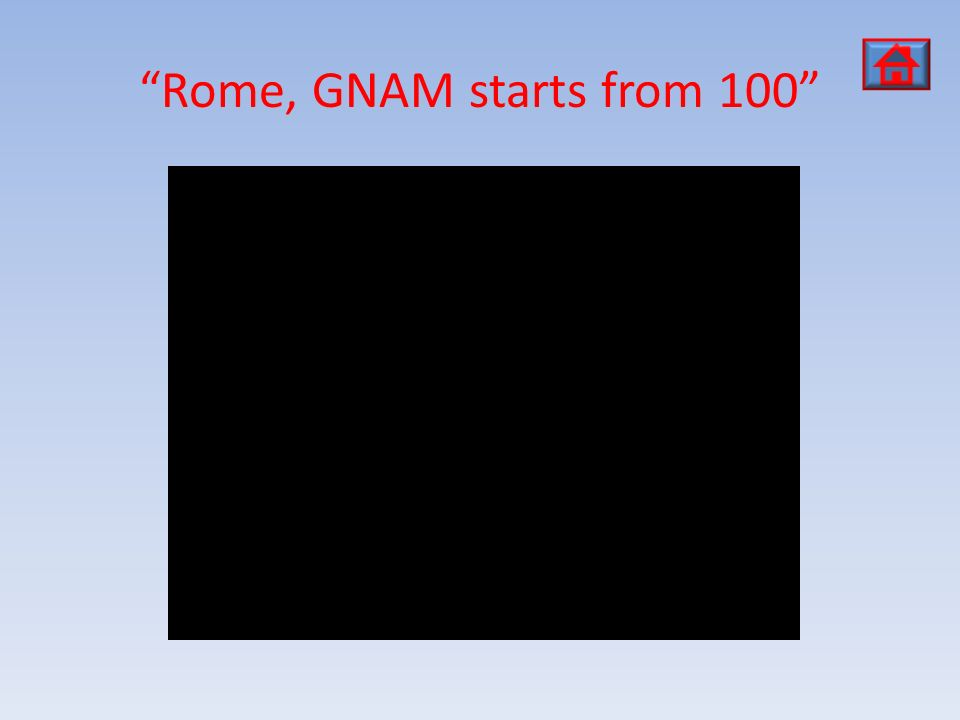 Rome, GNAM starts from 100