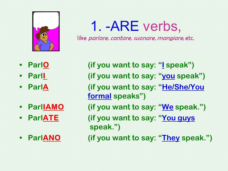 2.-ERE verbs like prendere, ricevere, rompere, etc.