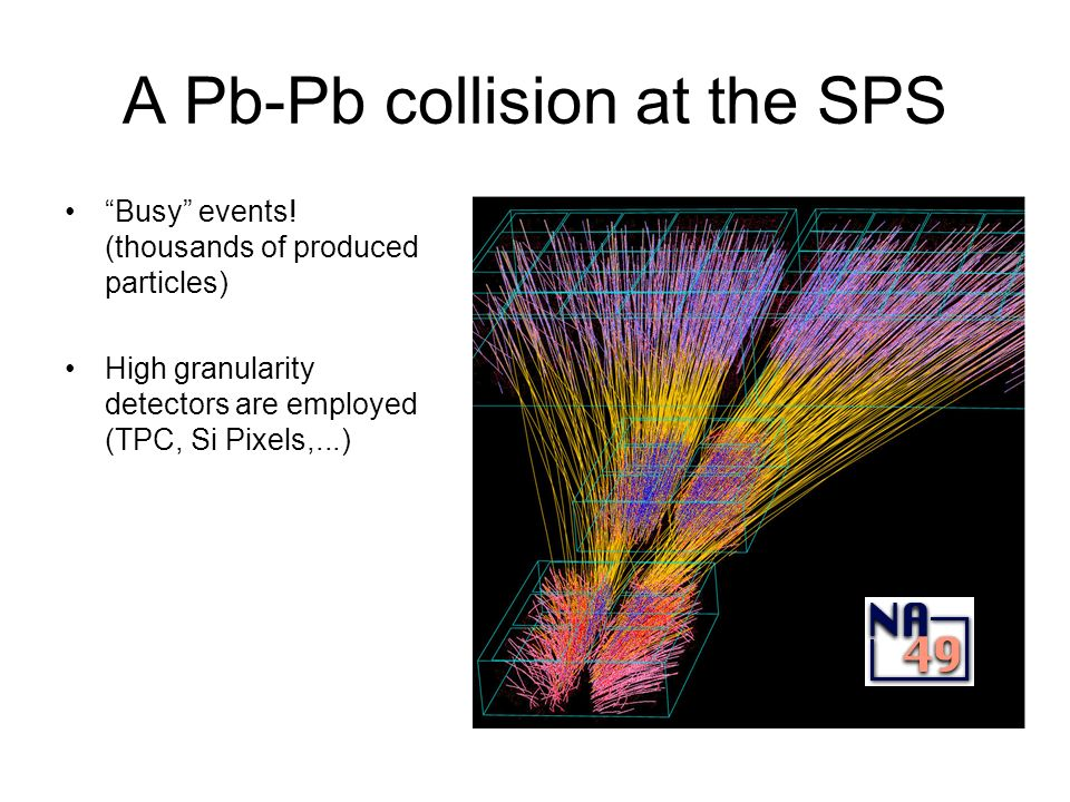 A Pb-Pb collision at the SPS Busy events.