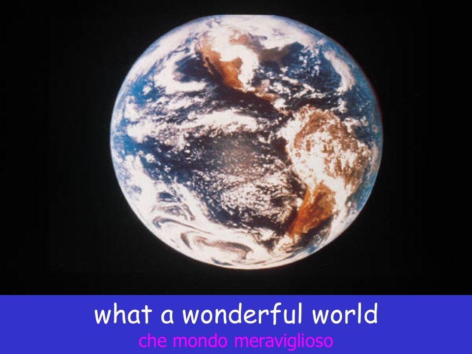 what a wonderful world che mondo meraviglioso