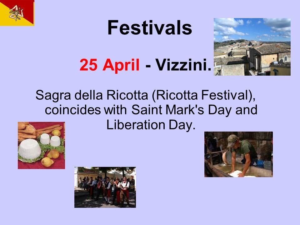 Festivals 25 April - Vizzini.