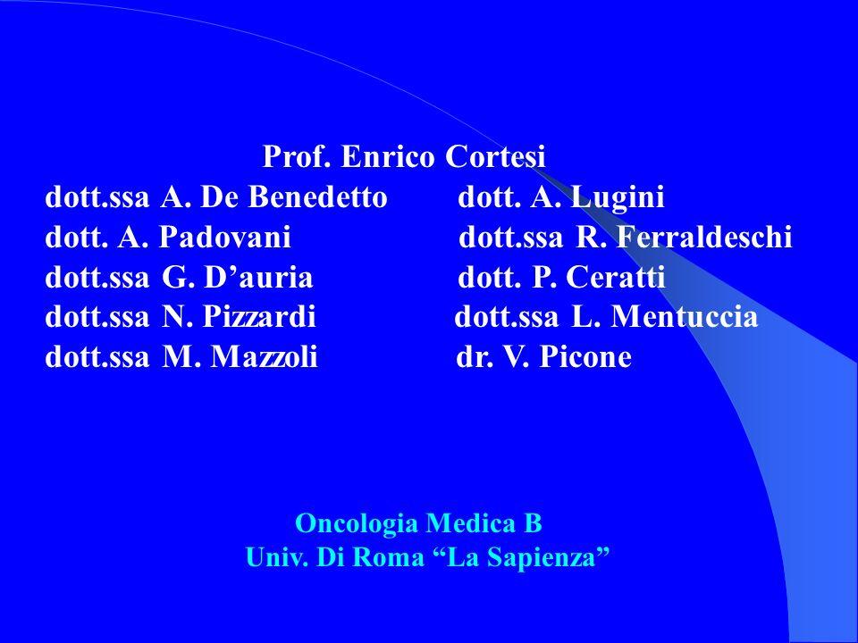 Prof. Enrico Cortesi dott.ssa A. De Benedetto dott. A. Lugini dott. A. Padovani dott.ssa R. Ferraldeschi dott.ssa G. Dauria dott. P. Ceratti dott.ssa