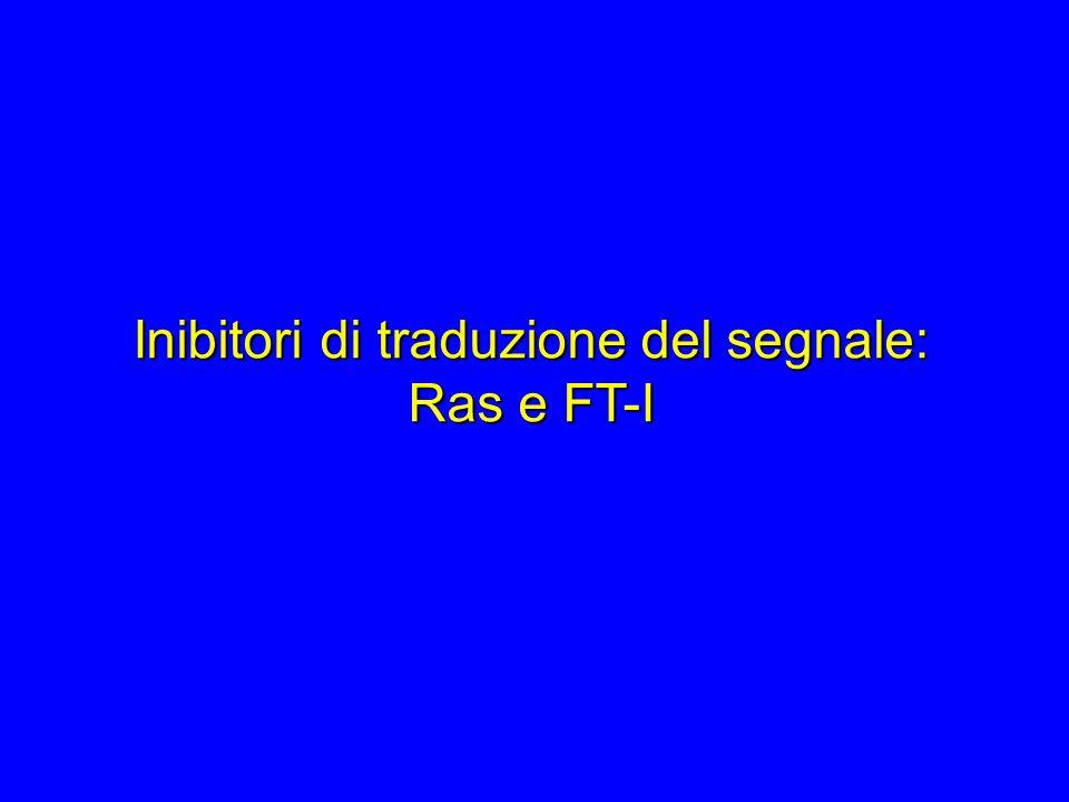 Inibitori di traduzione del segnale: Ras e FT-I