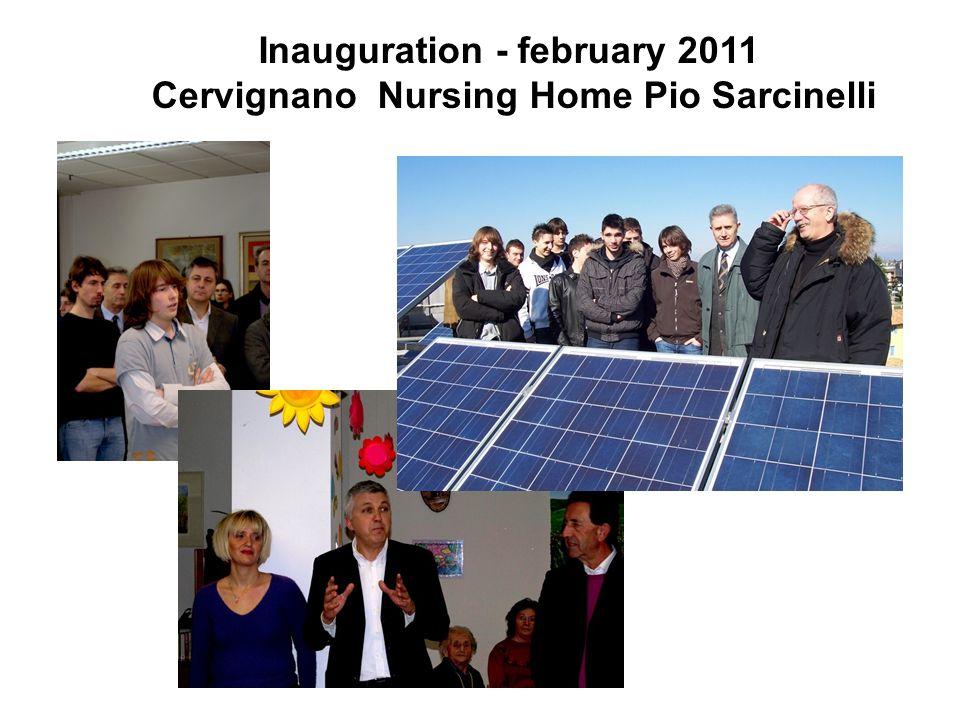 Inauguration - february 2011 Cervignano Nursing Home Pio Sarcinelli