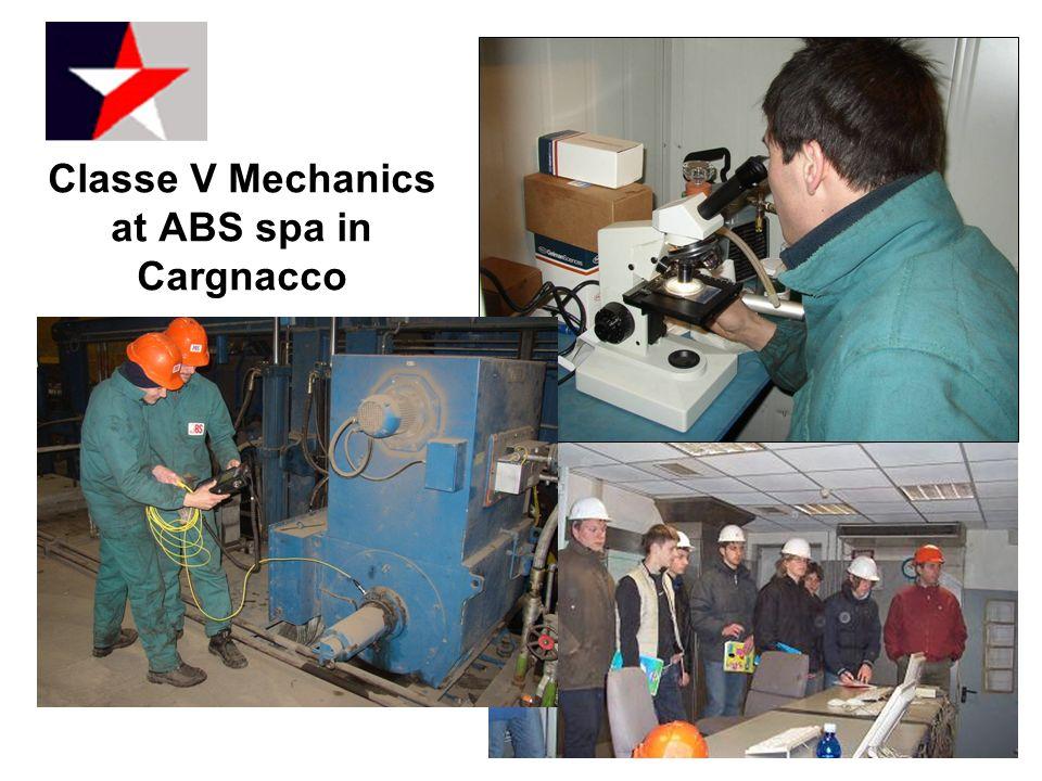 Classe V Mechanics at ABS spa in Cargnacco