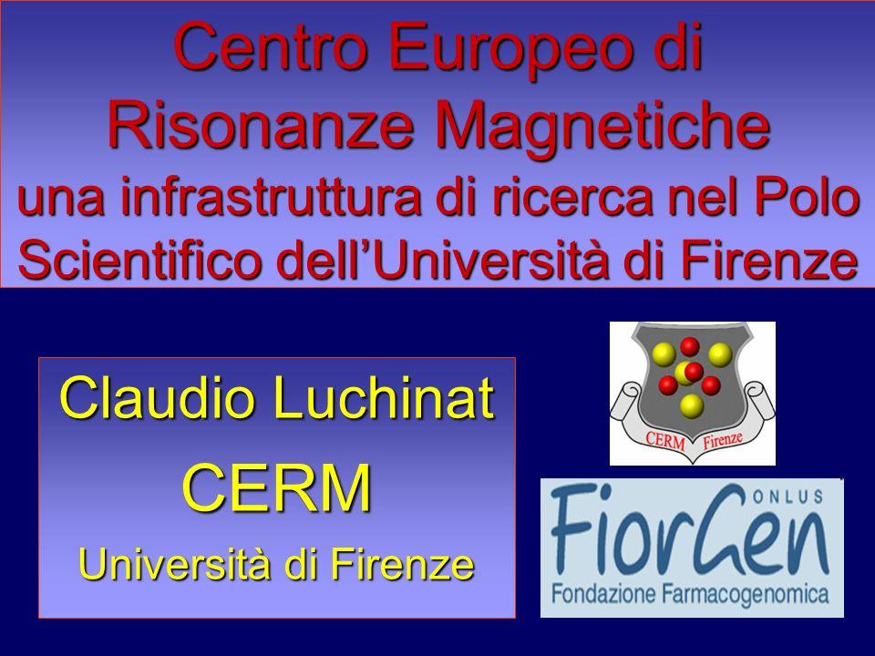 Claudio Luchinat CERM Università di Firenze Centro Europeo di Risonanze Magnetiche una infrastruttura di ricerca nel Polo Scientifico dellUniversità d