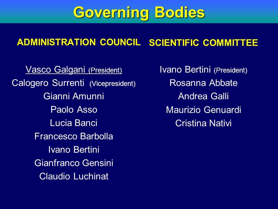 ADMINISTRATION COUNCIL Vasco Galgani (President) Calogero Surrenti (Vicepresident) Gianni Amunni Paolo Asso Lucia Banci Francesco Barbolla Ivano Berti