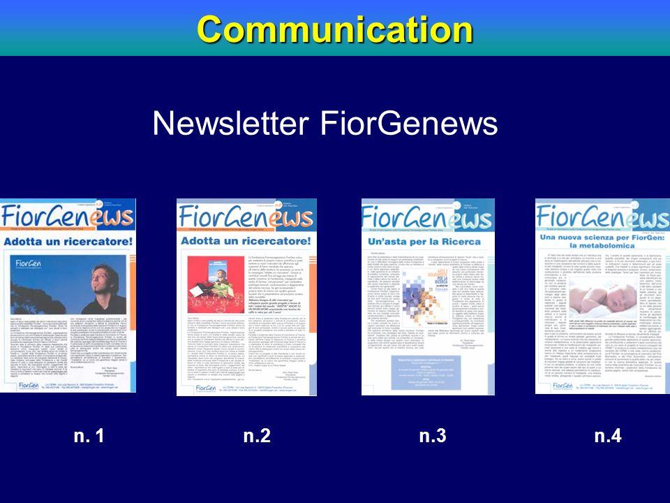 n. 1 n.2 n.3 n.4Communication Newsletter FiorGenews